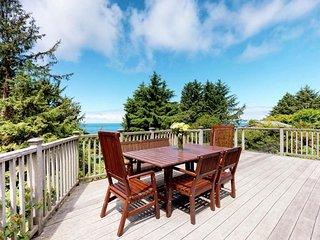 Upscale house with ocean views, entertainment & large deck - beach nearby!