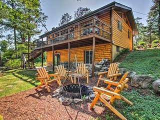Waterfront Gull Lake Home w/ Hilltop Views & Dock!