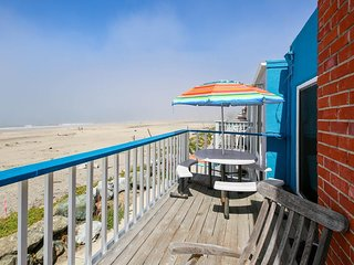 Oceanfront two-level home w/two kitchens, direct beach access, & plenty of space
