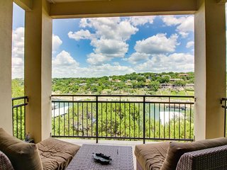 Luxury riverfront living w/ a gorgeous view plus an on-site spa & restaurant