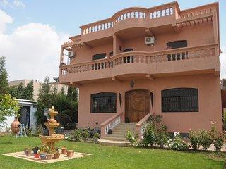 suite familiale avec balcon et vue sur jardin