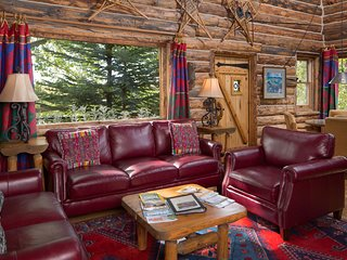 The Cabin on the Lake is the quintessential LUXURY Colorado log cabin retreat!