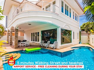 4 bedrooms villa Tewaree near the beach and Walking Street