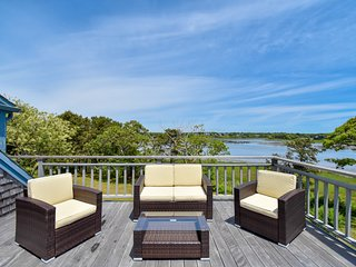 #611: Amazing views of Buck's Creek, 2 decks, walk to Ridgevale Beach!