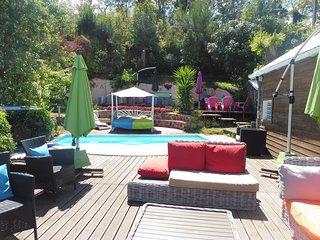 kaz'ouale jolis bungalows bois piscine et vue panoramique