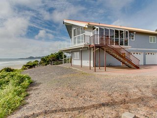 NEW LISTING! Oceanfront home with easy beach access and great location in town