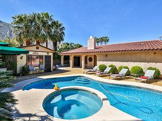 Walk to Downtown! 4BR Tahquitz River Estates w/ Casita, Heated Pool & Spa