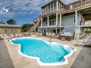 Whalehead Retreat | 1150 ft from the beach | Dog Friendly, Private Pool, Hot Tub