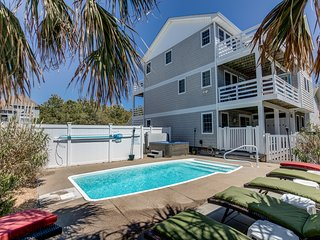 Loafing Around In Duck | 1250 ft from the beach | Private Pool, Hot Tub