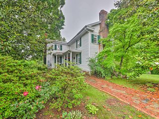 NEW! Historic Home in Yadkin Valley Wine Region!