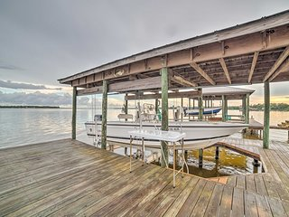 NEW! Perdido Bayfront House w/ Dock & Boat Lifts!