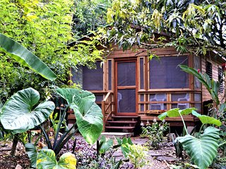 Iguana Roost, A Fully Equipped Two Bedroomed Cabin, Private Kitchen & Bathroom