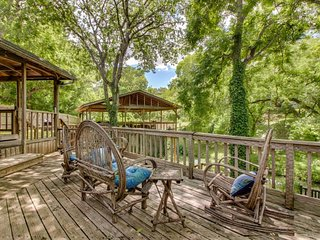 NEW LISTING! Riverfront dog-friendly home w/canoe, dock, expansive deck