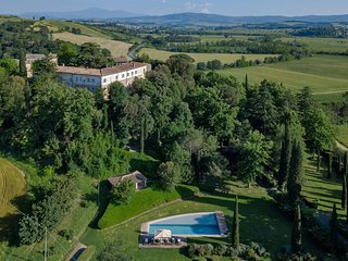 Villa Ponte sull'Arbia - Spectacular 12th-century villa with private swimming po