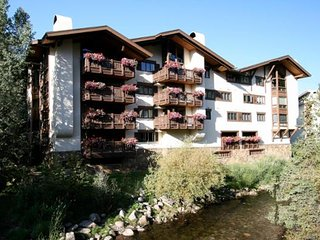 Vail Village Condominium Located on the Banks of Gore Creek