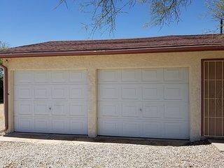 Two-car garage entrance