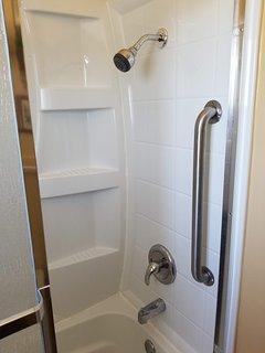shower/tub in bathroom