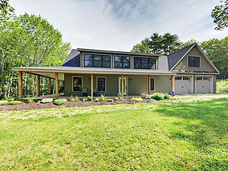 Brand-New 5BR w/Wraparound Porch & Water Access, 5 Minutes to Boothbay Harbor