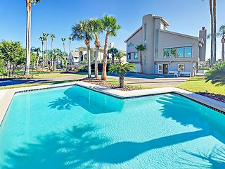 Canal-Side 4BR/4BA w/ Private Pool & Dock, Balconies & Bay Views - Near Beach