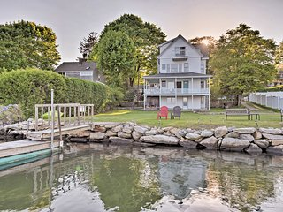 NEW! Waterfront Apt.- Mystic, Deck, Dock, Canoe!