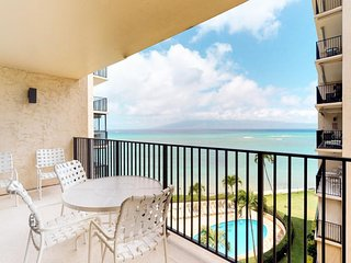 NEW! Condo w/shared pool, oceanfront views,& 1/2 mile to beach! Family Friendly!