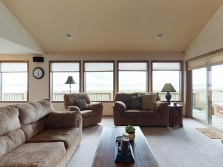 NEW LISTING! Dog-friendly, waterfront home w/ ocean views & a private hot tub