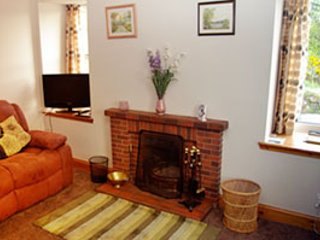 The cottage's lounge with two comfy reclining sofas and TV/DVD