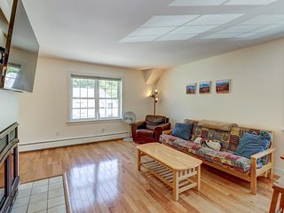Clean, bright condo near slopes & lakes - walk to dining, in-town conveniences!