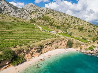 Paradise Beach Retreat 2 Bedroom Villa Nestled in Vineyards Near Bol, Croatia!