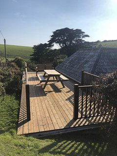 The main decking area