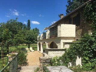4**** Watermill with private pool on the edge of a lively Dordogne village