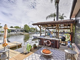 Waterfront Port Richey Home w/ Tiki Bar & Pool!