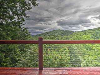 Beautiful Cabin w/ Hot Tub & Smoky Mountain Views!