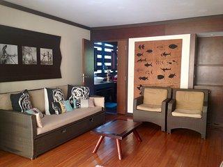 Bel appartement sur la plage, accès piscine, fitness, sauna hammam inclus