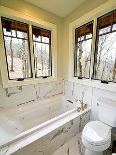 Master bathroom with jet tub