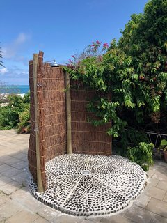 Outdoor shower, directly accessible from master bathroom and main terrace