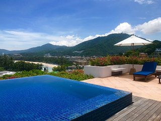 Kata Beach Ocean View Penthouse Private Pool Roof-Top Deck Walk To Beach