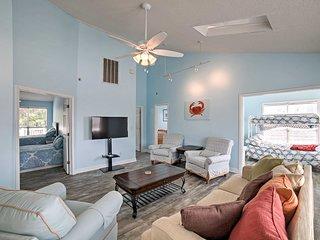 Large Myrtle Beach Home w/Deck - Walk to Beach!