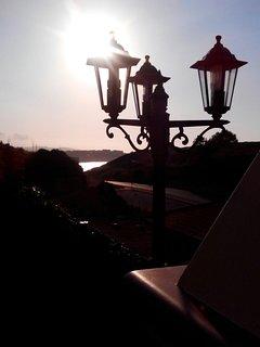 Terraza, con magnificas puestas de sol