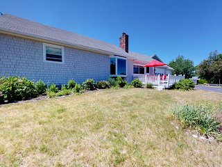NEW LISTING! Ocean view home w/patio & yard-steps to Willard Beach, dogs OK