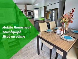 Mobilhome tout équipé, WIFI gratuit ★ TV ★ Lave vaisselle ★  Lave-linge