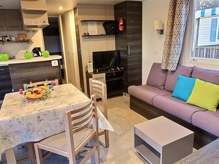 Ref.LP4 Mobil home gamme luxe 6/8p dans un camping 4* - Bungalows for Rent in Le