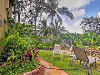 NEW! Lihue Studio w/Surfboard-5 Min Walk to Beach!