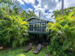 NEW LISTING! Bright island house, beautiful garden, entertainment & beach access