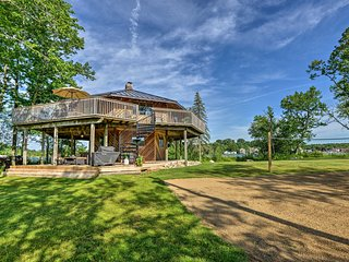 NEW! Private Island Crooked Lake House w/ Boat!
