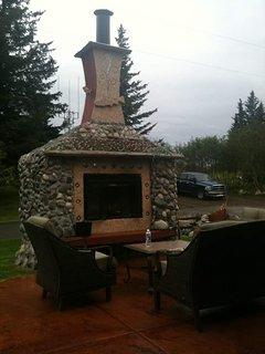 Outdoor fireplace.  Enjoy an evening under the stars.