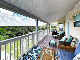 Coastal-View 4BR w/ Backyard BBQ, 2 Balconies & Boat Parking, ADA Accessible