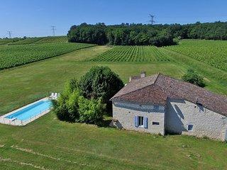 Mauberts farmhouse overlooking the vines