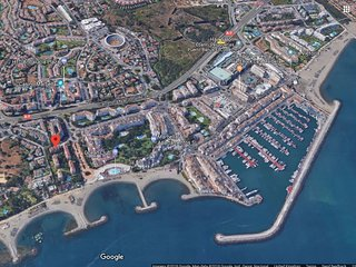 Location of our beach front apartments, just minutes walk to Puerto Banus harbour
