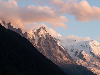 Studio,vue Mont-Blanc, piscine a Argentiere-Chamonix, au pied des Grands Montets